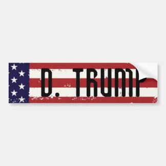 Donald Trump 2016 American Flag Bumper  Sticker