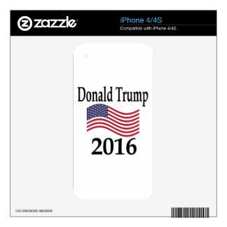 Donald Trump 2016 Calcomanía Para El iPhone 4