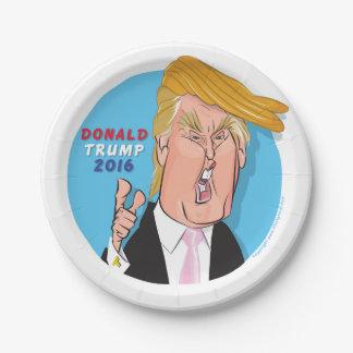 Donald Trump 2016 Cartoon Paper Plate