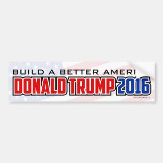 Donald Trump 2016 - Construya una mejor América Pegatina Para Auto
