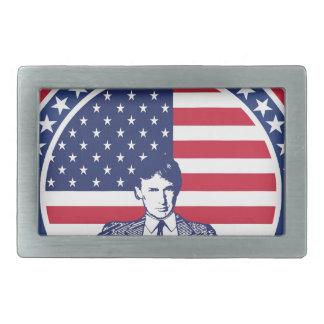 Donald Trump 2016 Flag with portrait Rectangular Belt Buckle