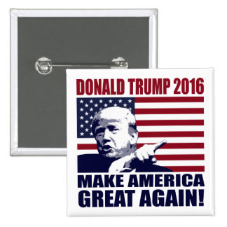 Donald Trump 2016 For President Button