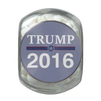 Donald Trump 2016 Glass Candy Jars