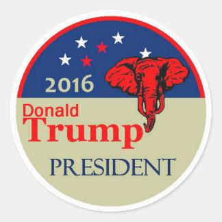 Donald Trump 2016 Pegatina Redonda