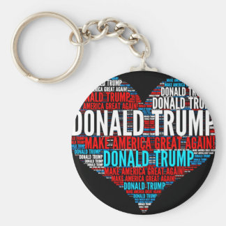 Donald Trump 2016 Presidential Candidate Basic Round Button Keychain