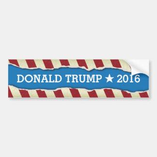 Donald Trump 2016 Ripped Paper Design Bumper Sticker