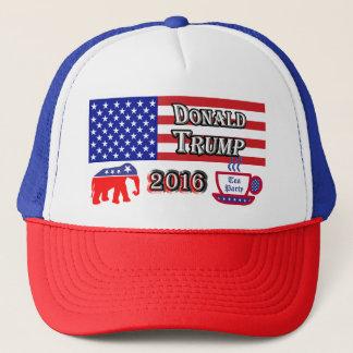Donald Trump 2016 - Tea Party - Elephant Trucker Hat