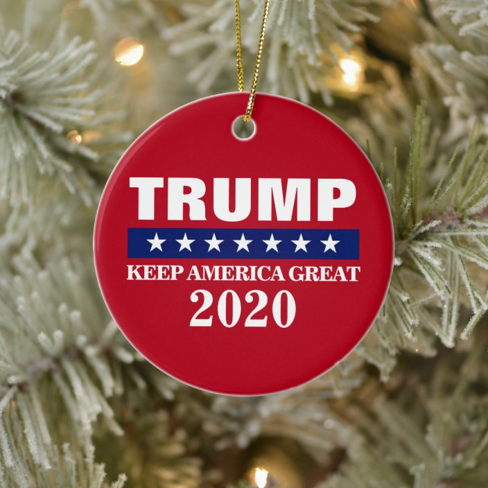Trump 2020 Christmas Ornament Collection DONALD TRUMP 2020 CHRISTMAS ORNAMENT | Zazzle.com