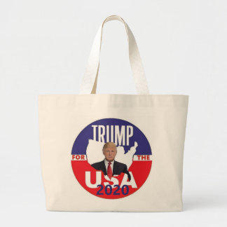 Donald TRUMP 2020 Large Tote Bag