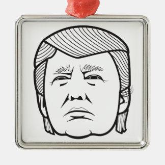Donald Trump Adorno Navideño Cuadrado De Metal