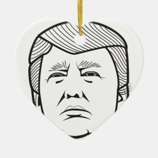 Donald Trump Adorno Navideño De Cerámica En Forma De Corazón