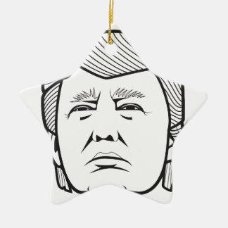 Donald Trump Adorno Navideño De Cerámica En Forma De Estrella