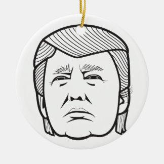 Donald Trump Adorno Navideño Redondo De Cerámica
