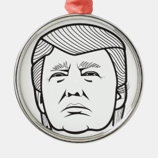 Donald Trump Adorno Navideño Redondo De Metal