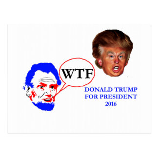 Donald Trump and Lincoln Postcard
