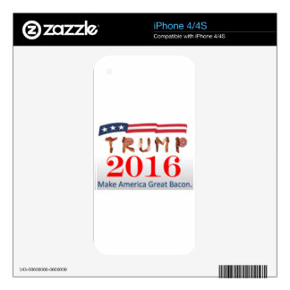 Donald Trump Bacon Decals For The iPhone 4