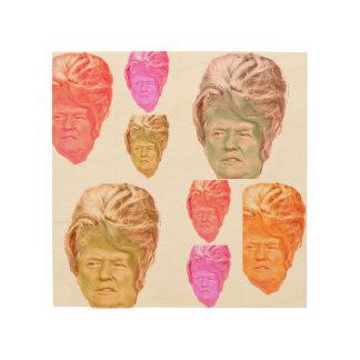 Donald Trump Beehive Wig Print on Birch Wood Wood Wall Art
