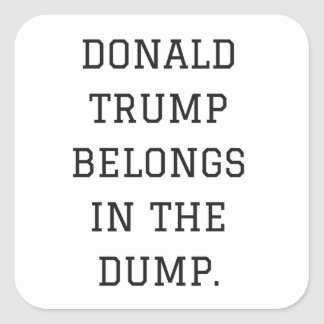 Donald Trump Belongs In The Dump Humor Collection Square Sticker