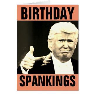 Donald Trump Birthday Spanking Greeting Cards