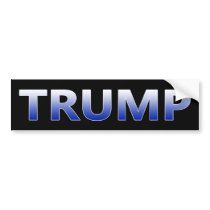 DONALD TRUMP BOLD Bumper Sticker - Cool Blue #MAGA