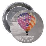 Donald Trump: Bolso de gas americano Pin Redondo De 3 Pulgadas