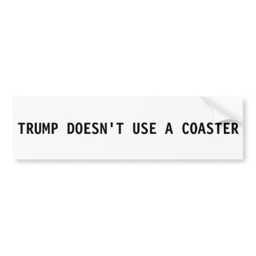 USA Themed Donald Trump Bumper Sticker - Doesn't Use Coasters