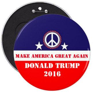 Donald Trump 6 Inch Round Button