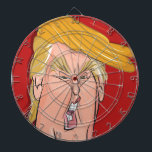"Donald Trump Cartoon Dartboard<br><div class=""desc"">Love &#39;m or hate &#39;m,  with The President Donald Trump Dartboard you can express your true feelings for The Donald.</div>"