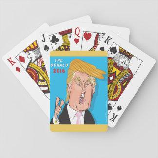 Donald Trump Cartoon playing cards. Playing Cards