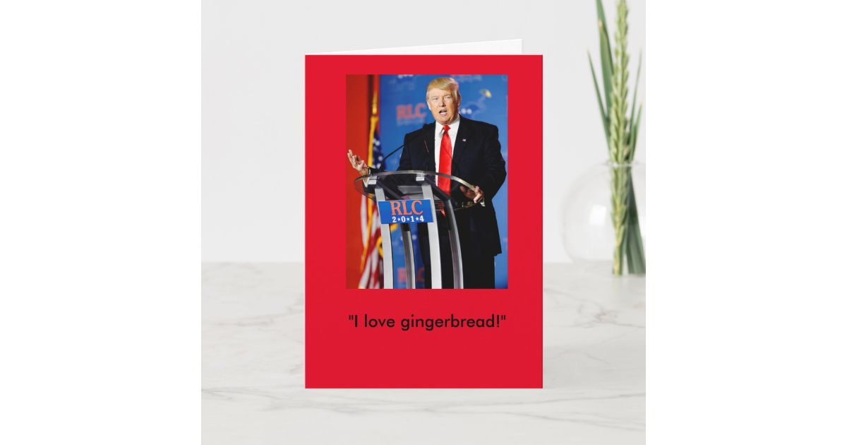 Donald Trump Christmas Card Zazzle Com