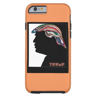 Donald Trump Combover psicodélico Funda De iPhone 6 Tough
