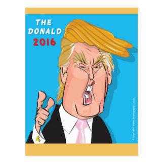 Donald Trump Comic Cartoon Postcard