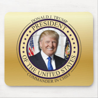 DONALD TRUMP COMMANDER IN CHIEF GOLD PRESIDENTIAL MOUSE PAD