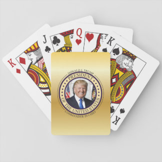 DONALD TRUMP COMMANDER IN CHIEF GOLD PRESIDENTIAL PLAYING CARDS