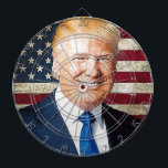 "Donald Trump Dart Board<br><div class=""desc"">Portrait of Donald Trump,  which can be placed on various items</div>"