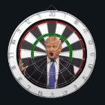 "Donald Trump Dart Board<br><div class=""desc"">Donald Trump Dart Board. Hit him right in the kisser with your darts!</div>"