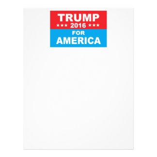 Donald Trump for America Letterhead