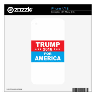 Donald Trump for America Skins For iPhone 4S