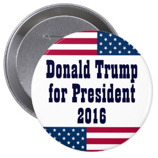 Donald Trump for President 2016-American Flag Button