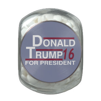 Donald Trump for president 2016 Jelly Belly Candy Jar