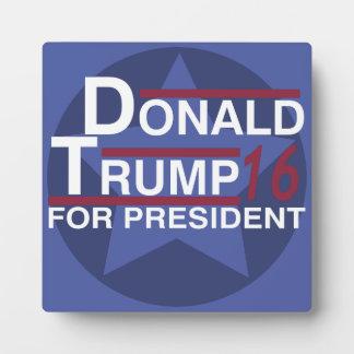 Donald Trump For President 2016 Plaque