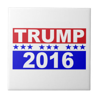 Donald Trump For President 2016 red white and blue Tile