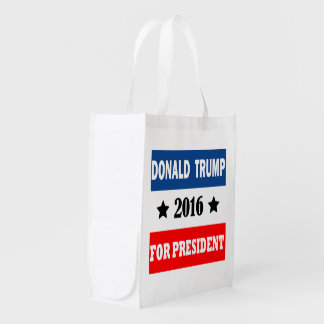 Donald Trump For President 2016 Reusable Grocery Bag