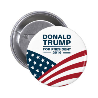 Donald Trump for President 2016 Stars and Stripes Button