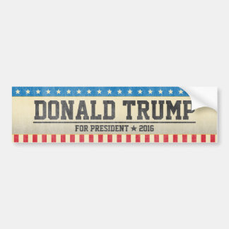 Donald Trump for President 2016 Vintage Design Bumper Sticker