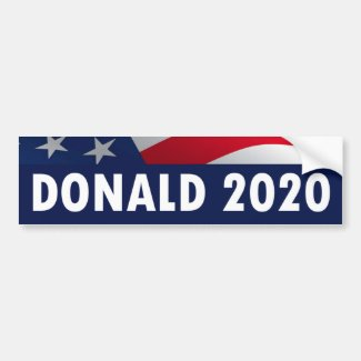 Donald Trump for President 2020 Bumper Sticker