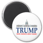 Donald Trump For President 2 Inch Round Magnet