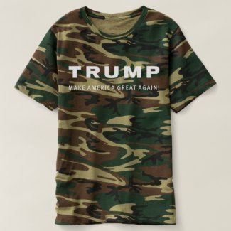 Donald TRUMP for President CAMO HUNTING SHIRT
