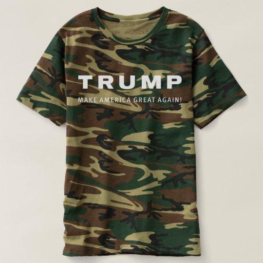 dac7a8b40 Donald TRUMP for President CAMO HUNTING SHIRT   Zazzle.com
