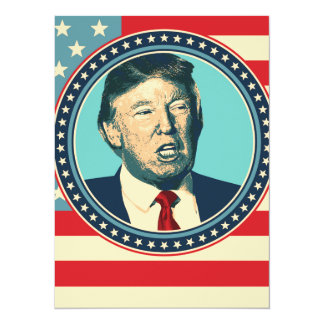 donald trump for president card